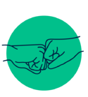 illustration of hands making a fist bump