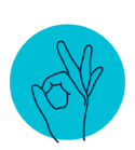illustration of hand making okay sign